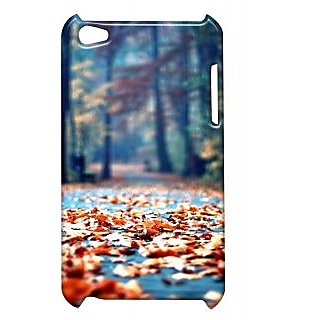 Pickpattern Back Cover For Apple Ipod Touch 4 LEAFIT4-5071