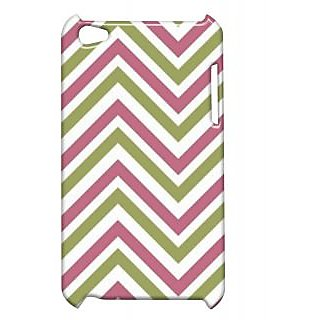 Pickpattern Back Cover For Apple Ipod Touch 4 PINKGREENIT4-5253