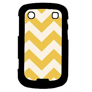 Pickpattern Back Cover For Blackberry Bold 9900 WHITE&YELLOWZIGZAG9900-5963