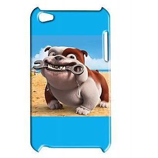 Pickpattern Back Cover For Apple Ipod Touch 4 BROWNDOGIT4-4795