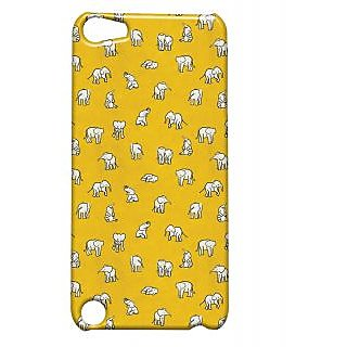 Pickpattern Back Cover For Apple Ipod Touch 5 ELEPHANTYELLOWIT5-5519