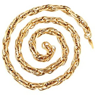 The Jewelbox 22K Gold Plated Honey Singh Multi Links Broad Chain 24