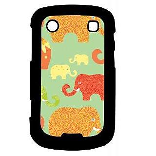 Pickpattern Back Cover For Blackberry Bold 9900 ELEPHANTART9900-6026