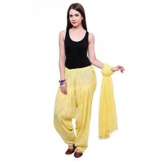 Pistaas Lemon Yellow Colour Full Cotton Patiala Salwar With Dupatta