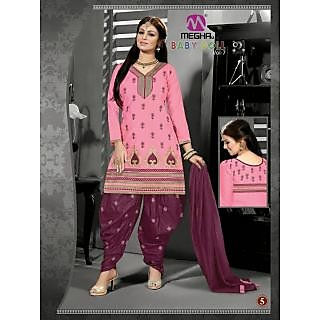 Ladies Beautiful Cotton Readymade Salwar Suit Pink And Maroon