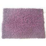 JBG Home Store Chenille Shaggy Cotton Bathmat/Rugs -Purple