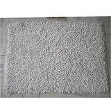 JBG Home Store Chenille Shaggy Cotton Bathmat/Rugs -White