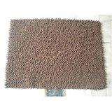 JBG Home Store Chenille Shaggy Cotton Bathmat/Rugs -Brown