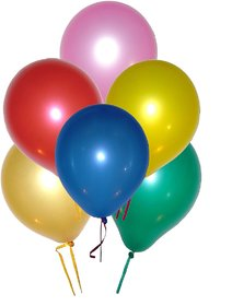 Assorted Metallic Colors Latex Balloons - Pack Of 50