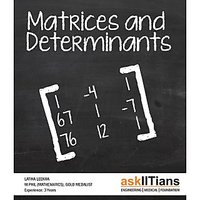 Complete Matrices  Determinants Course For JEE Main/Advanced/BITSAT/Board