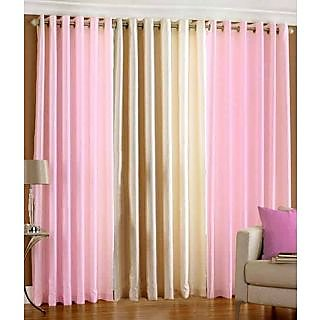 Homefab India Set Of 3 Multi-Colour Long Door(9X4)Curtains(HF277)