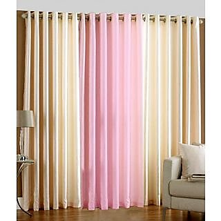 Homefab India Set Of 3 Multi-Colour Window(5X4)Curtains(HF278)