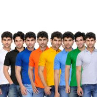 TSX Men's Multicolor Polo (Pack of 8)