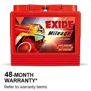 Exide Mileage Car Battery 40AH