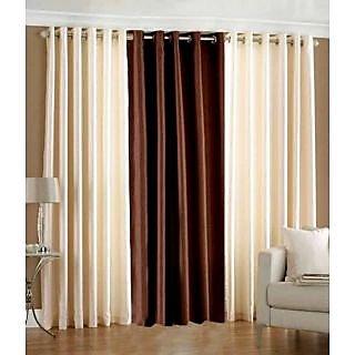 Homefab India Set Of 3 Multi-Colour Window(5X4)Curtains(HF279)