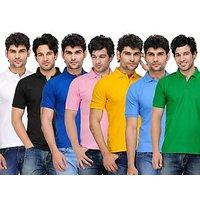 TSX Men's Khaki Polo (Pack of 7)