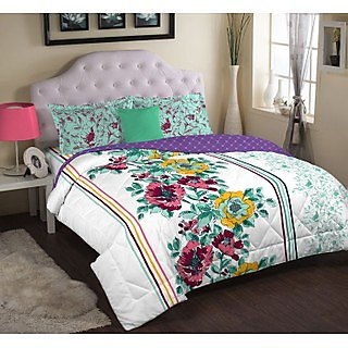 Multi Colour Celestine Bedlinen (Bedsheet Set (Double))