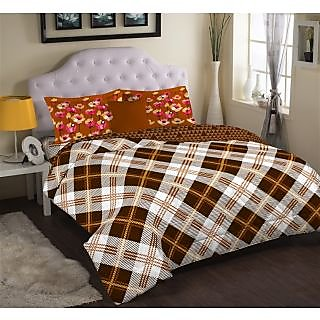 Multi Colour Cadence Bedlinen (Bedsheet Set (King))