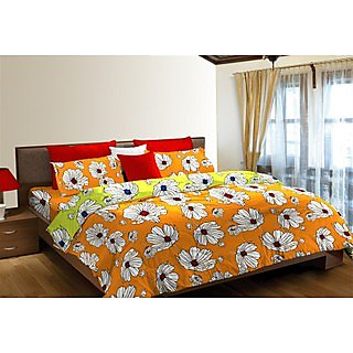 Multi Colour Block Bluster Bedshet Set Double (Bedsheet Set (Double))