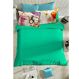 Multi Colour Pixella Bedlinen (Bedsheet Set (King XL))
