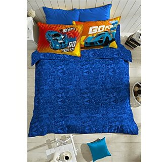 Blue Hotwheels Bedlinen (Bedsheet Set (King))