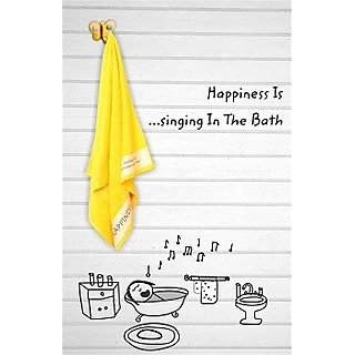 Yellow Happiness is Single Towel (Bath Towel)