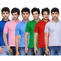 TSX Men's Multicolor Polo (Pack of 6)