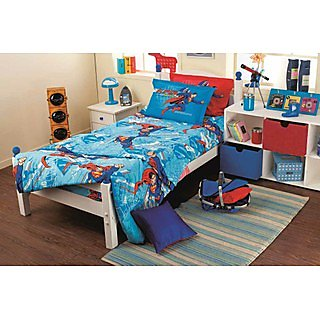 Blue Superman Bedlinen Set (Bedsheet Set (Single))