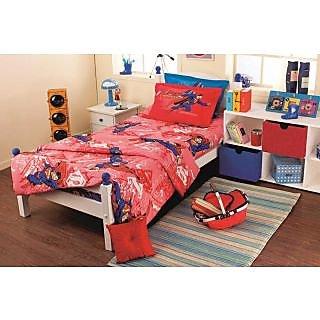 Red Superman Bedlinen Set (Bedsheet Set (Double))