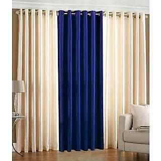 Homefab India Set Of 3 Multi-Colour Long Door(9X4)Curtains(HF280)