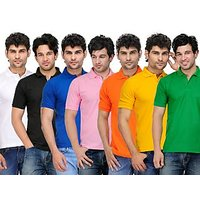 TSX Men's Multicolor Polo (Pack of 7)