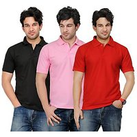 TSX Men's Multicolor Polo (Pack of 3)