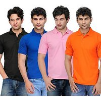 TSX Men's Multicolor Polo (Pack of 4)
