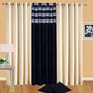 Homsazz Combo of 3 Door Curtains(Set of 3)