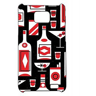 Pickpattern Back Cover For Samsung Galaxy S2 I9100 REDISHWINES2