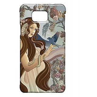 Pickpattern Back Cover For Samsung Galaxy Alpha BROWNLADYSALP