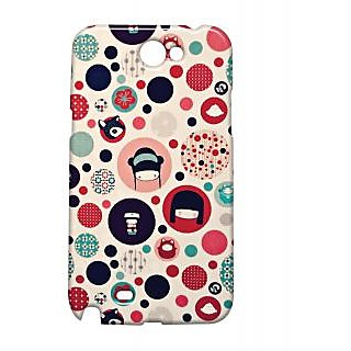 Pickpattern Back Cover For Samsung Galaxy Note 2 N7100 CHINESECOMICNT2