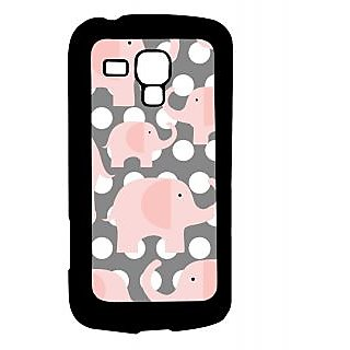 Pickpattern Back Cover For Samsung Galaxy S Duos S7562 ELEPHANTPOLKADOTSSDS