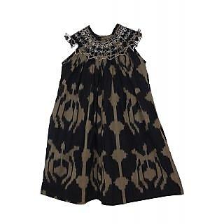 Ikat Smocked Dress