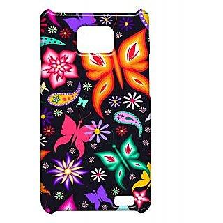 Pickpattern Back Cover For Samsung Galaxy S2 I9100 ORANGEBUTTERFLYS2