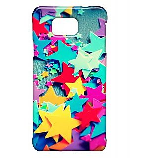 Pickpattern Back Cover For Samsung Galaxy Alpha COLORSTARSSALP
