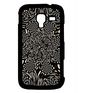 Pickpattern Back Cover For Samsung Galaxy Ace 2 I8160 BLACKFLOWERACE2