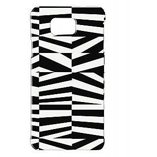 Pickpattern Back Cover For Samsung Galaxy Alpha BLACK&WHITEVECTORSALP