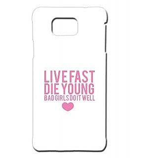 Pickpattern Back Cover For Samsung Galaxy Alpha BADGIRLSSALP