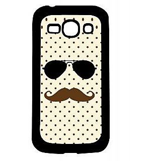 Pickpattern Back Cover For Samsung Galaxy Ace 3 S7272 DABANGGSPECSMOUSTACHEACE3