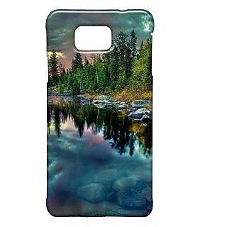 Pickpattern Back Cover For Samsung Galaxy Alpha BLUENATURESALP