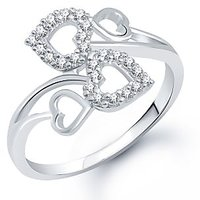 Meenaz Silver Plated  Silver Rings For-Women