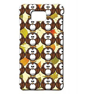 Pickpattern Back Cover For Samsung Galaxy Alpha BROWNYOWLSSALP