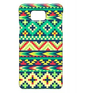 Pickpattern Back Cover For Samsung Galaxy Alpha LEAFAZTECSALP