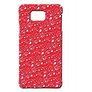 Pickpattern Back Cover For Samsung Galaxy Alpha FLOWINGHEARTSSALP-26682